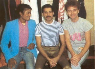Freddy Mercury and Michael Jackson